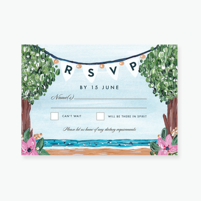 Beauty in Nature RSVP Card