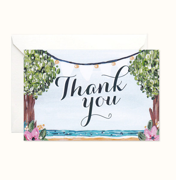 Beach Haven Thank You card