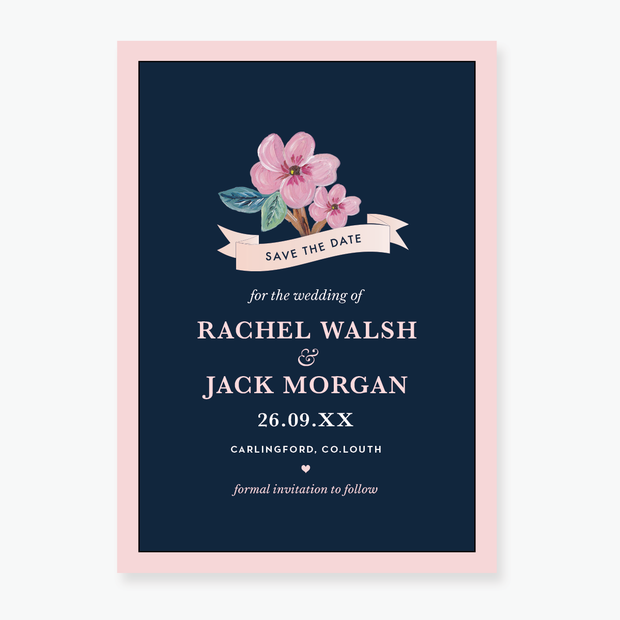In Bloom Save the Date Card