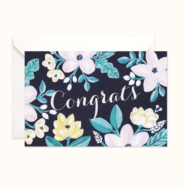 Modern Beauty Congratulations Card