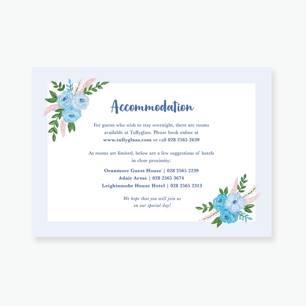 Blue Garden Enclosure Card