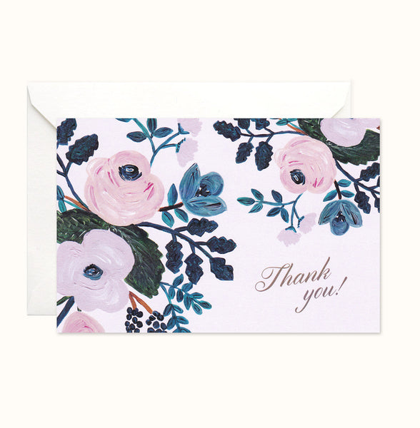 Stylish Blush Thank You card