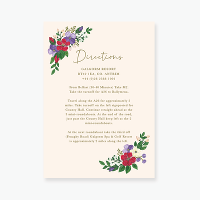 Bold Blooms Enclosure Card