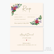 Bold Blooms RSVP Card