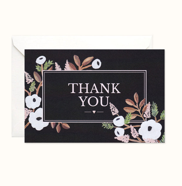 Forest Florals Thank You card