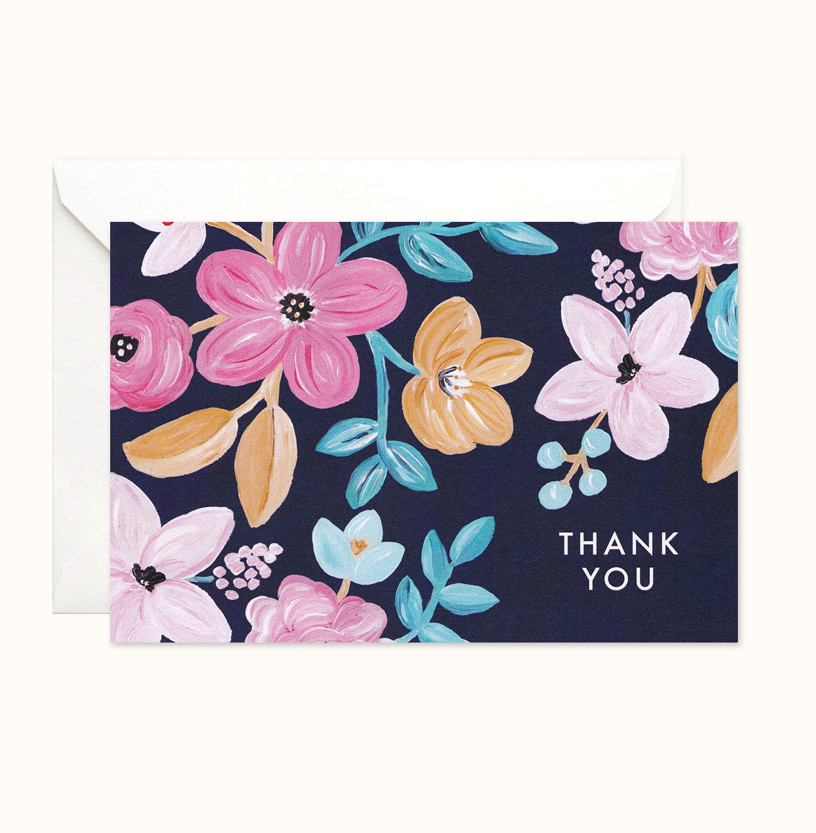 Bold Florals Thank You card