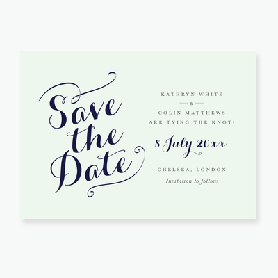 Chic Gala Save the Date Card