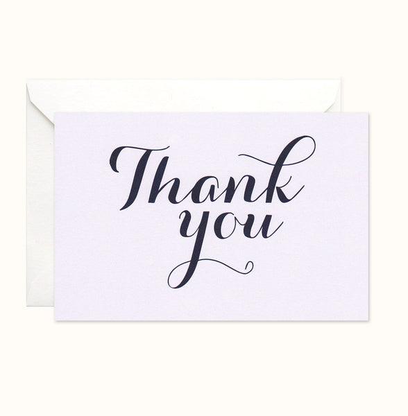 Chic Gala Thank You card