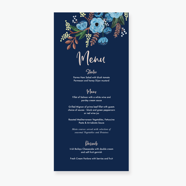 Countryside Menu