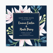 Exotic Save the Date Card