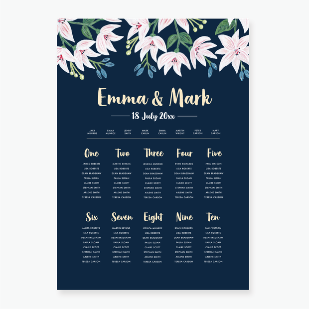 Exotic Table Plan