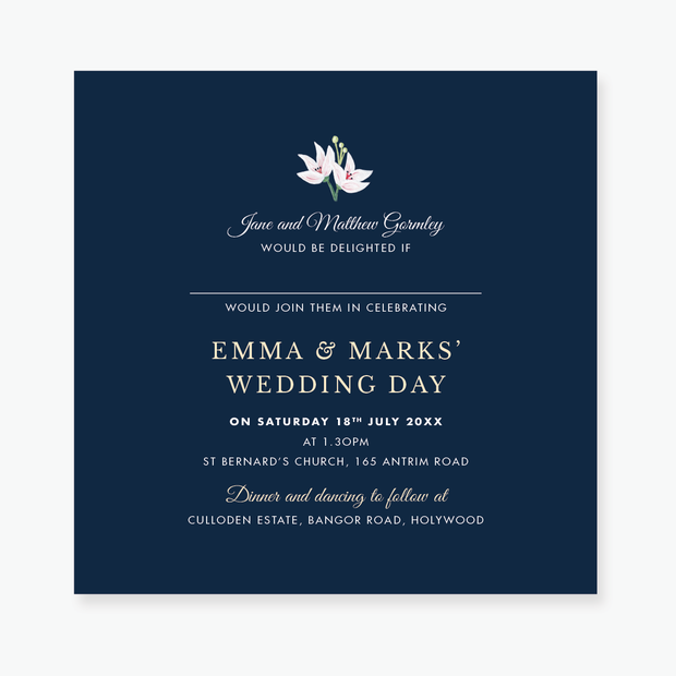 Exotic Wedding Invitation