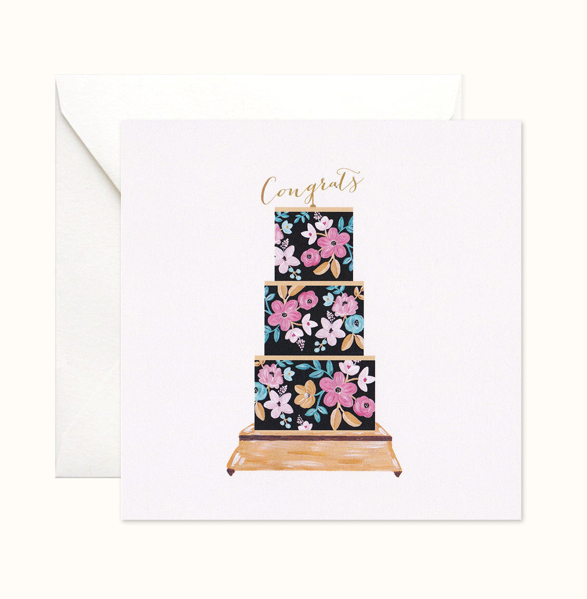 Floral Canopy Congratulations Card