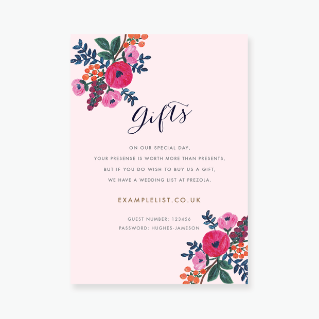 Floral Celebration Enclosure Card
