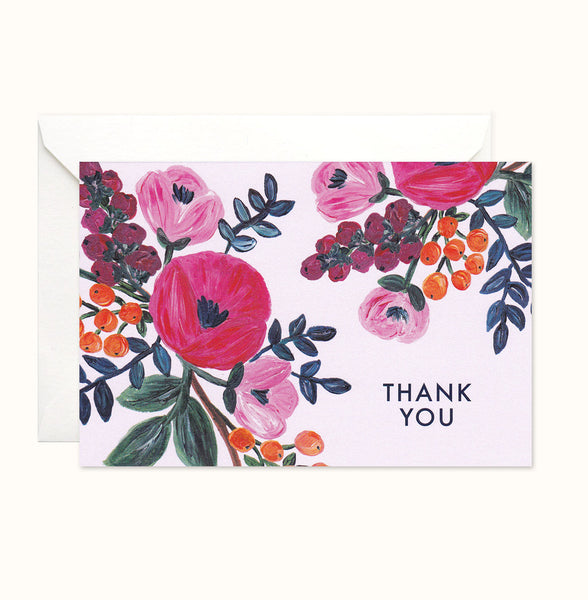 Floral Celebration Thank You card
