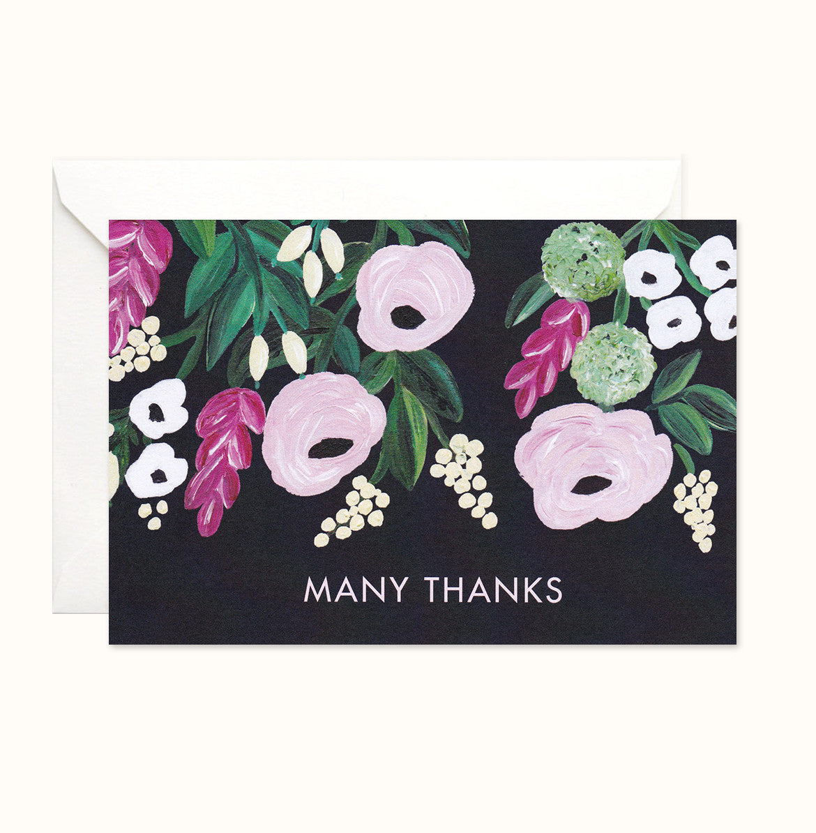 Floral Charm Thank You card