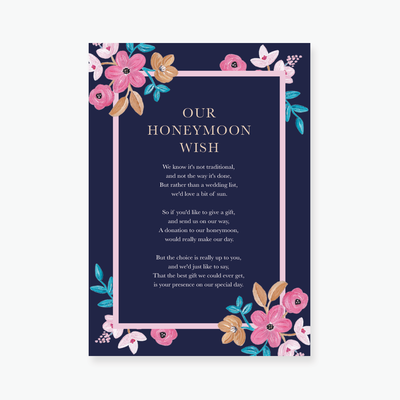 Forever Floral Enclosure Card