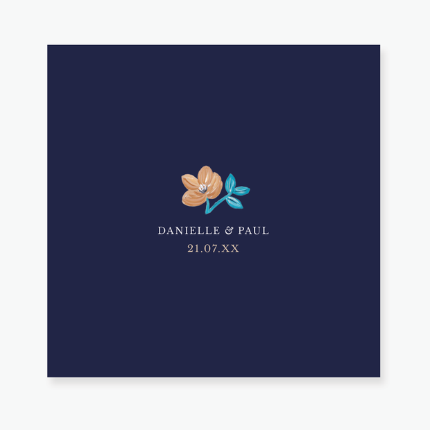 Forever Floral Save the Date Card