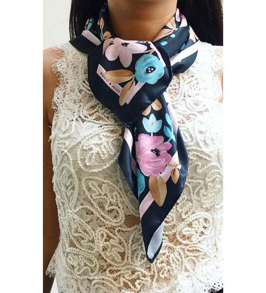 Forever Floral Print Scarf 70x70cm