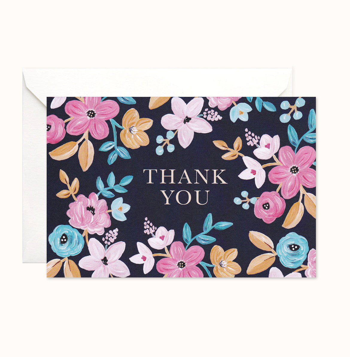 Vibrant Florals Thank You card