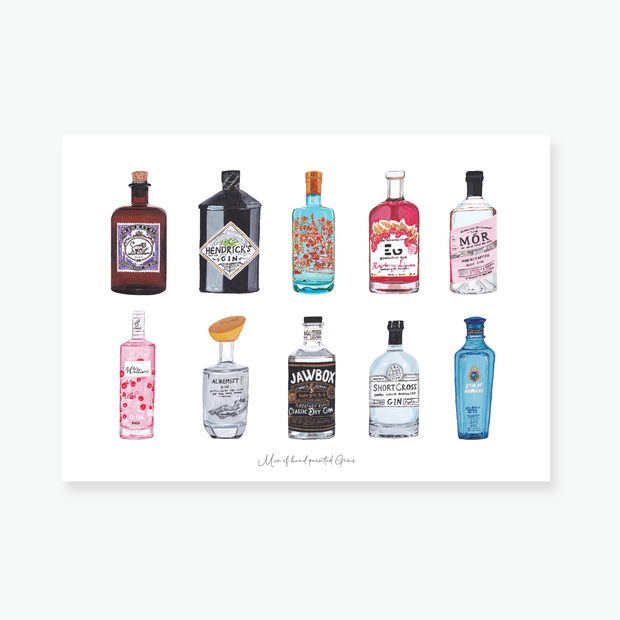 Mix of Gins Art Print