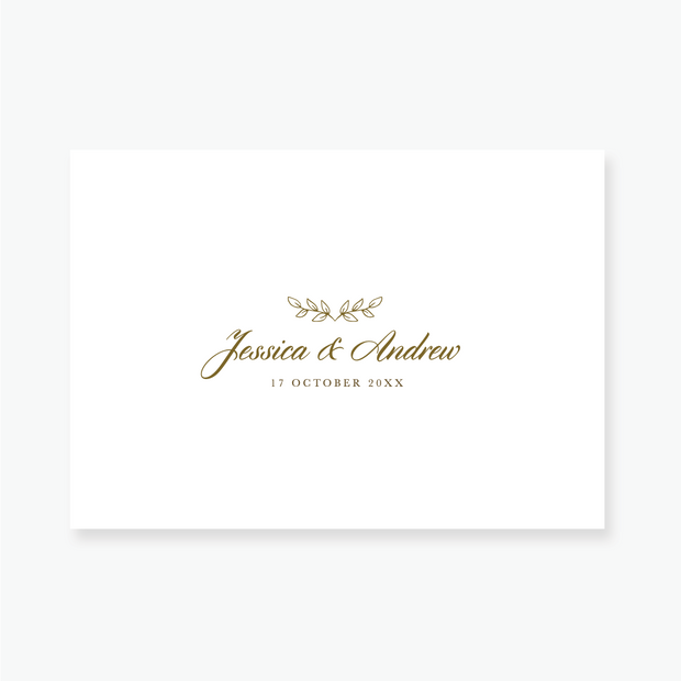 Gold Leaf Enclosure Card