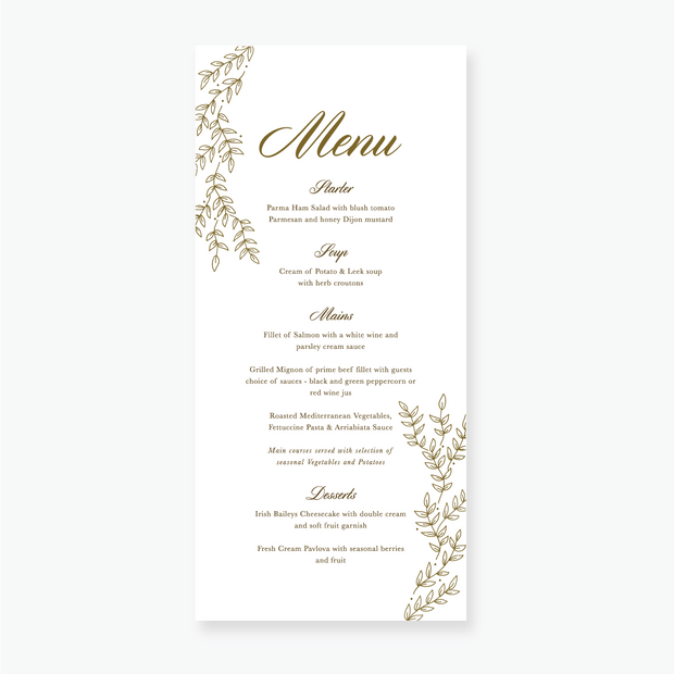 Gold Leaf Menu