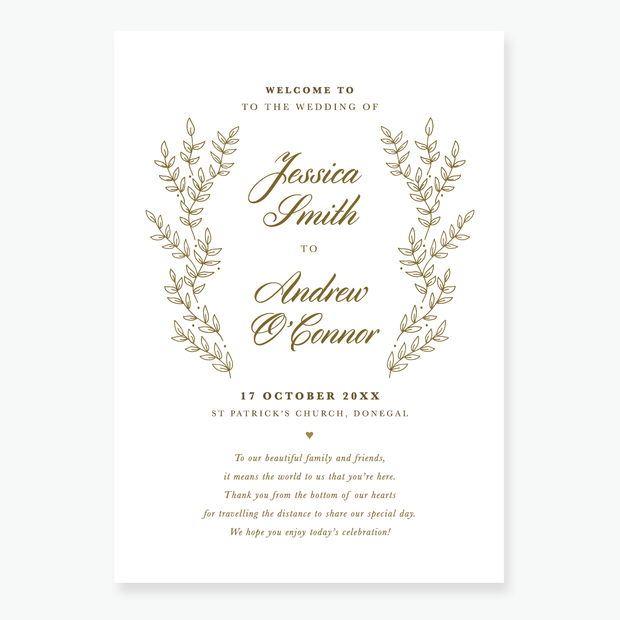 Gold Leaf Order of Service