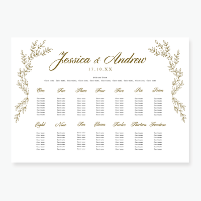 Gold Leaf Table Plan