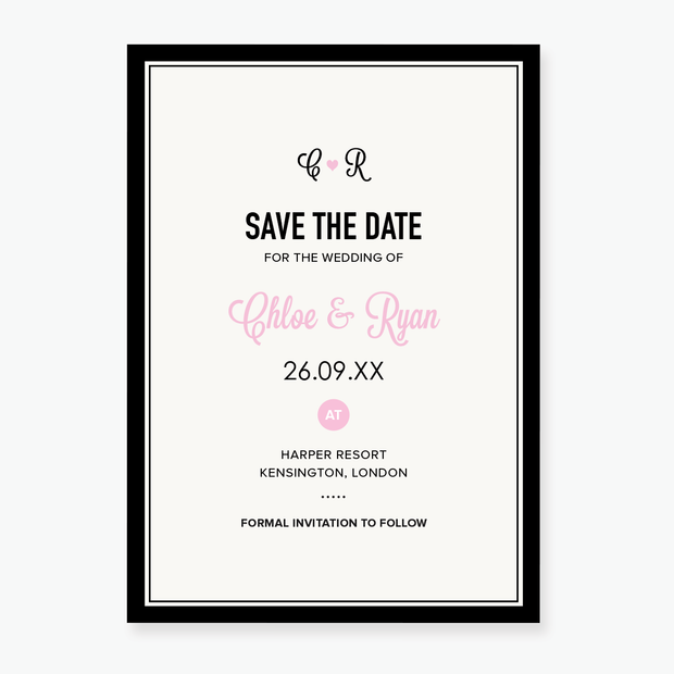 Heart to Heart Save the Date Card