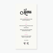 Heart to Heart Menu