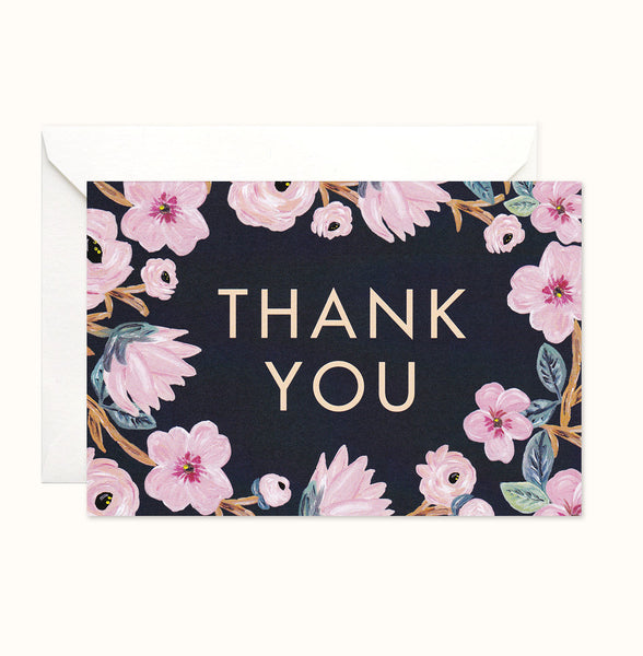 Summer Bloom Thank You card
