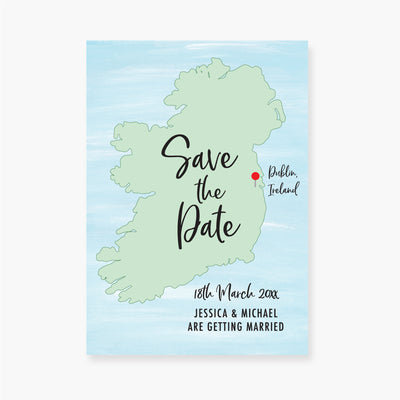 Map of Ireland Save the Date Card