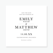 Just My Type Save the Date Card