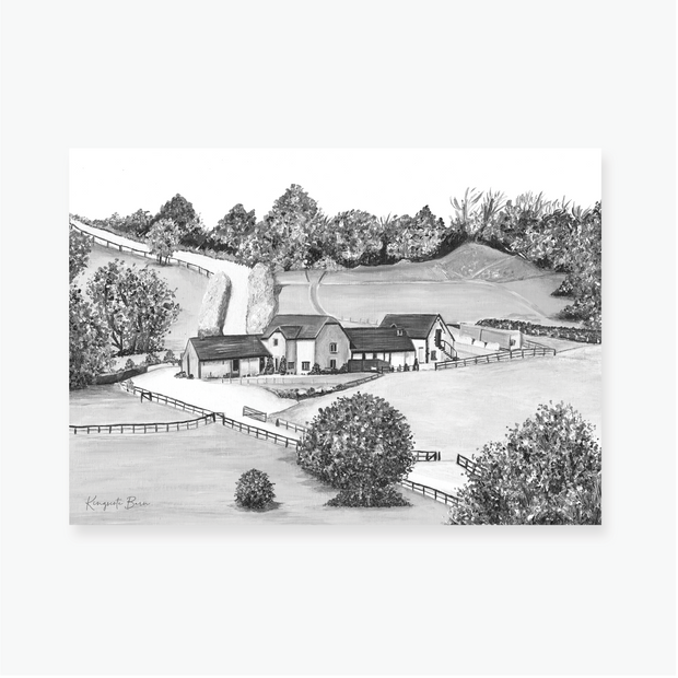 The Kingscote Barn Art Print