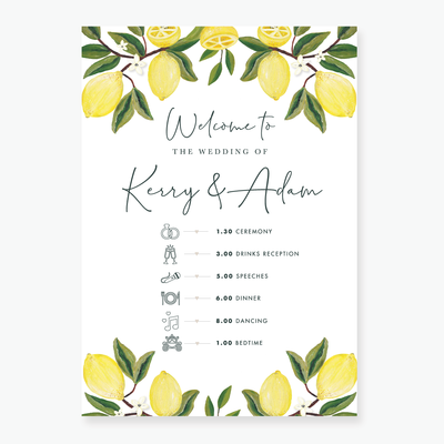 Lemon Garden Timeline Board