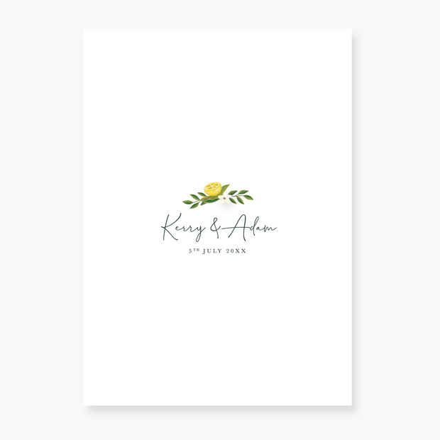 Lemon Garden Evening Invitation