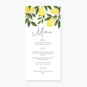 Lemon Garden Menu