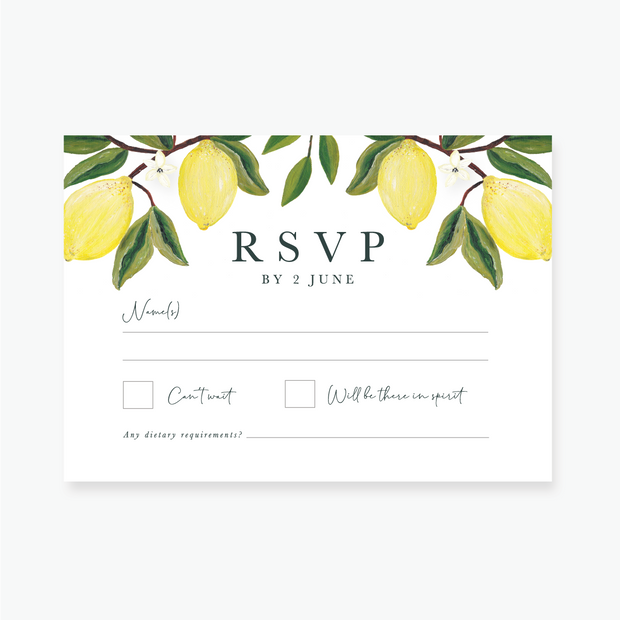 Lemon Garden RSVP Card