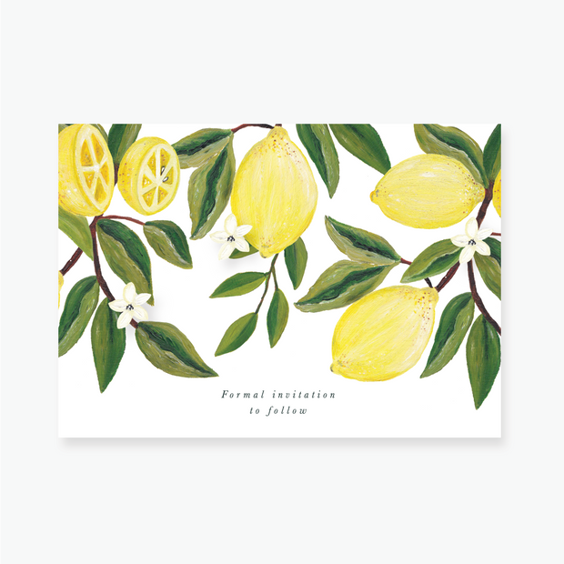 Lemon Garden Save the Date Card