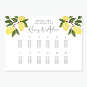 Lemon Garden Table Plan