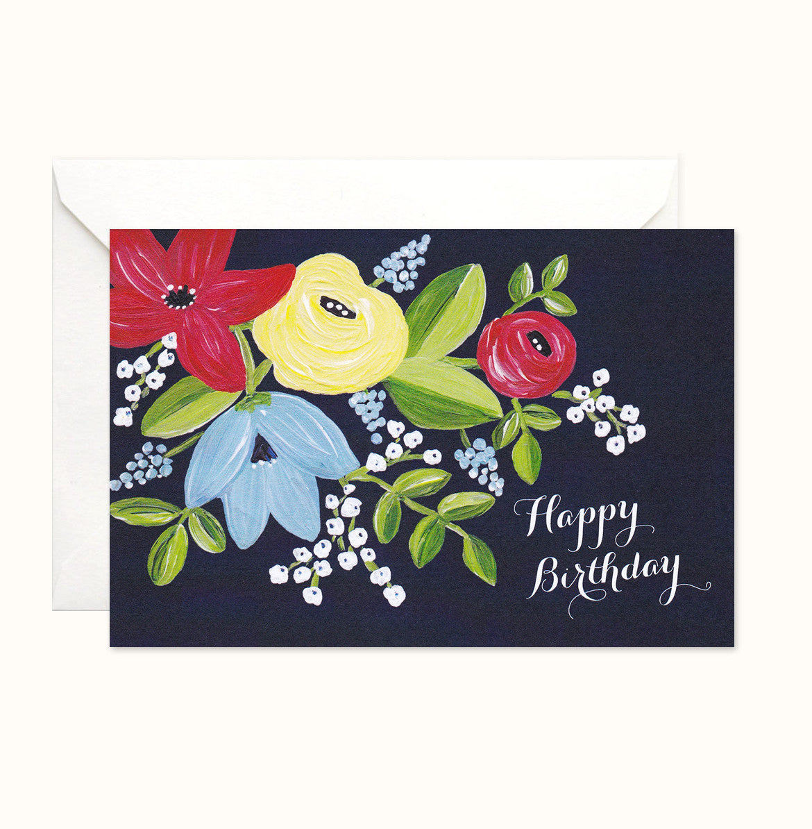 Lively Garden Birthday card