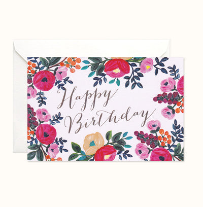 Love Blooms Birthday card
