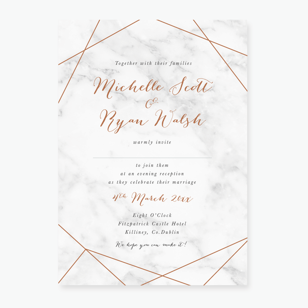 Marble Evening Invitation