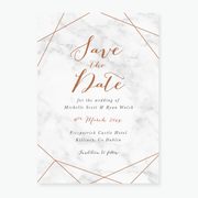 Marble Save the Date Card