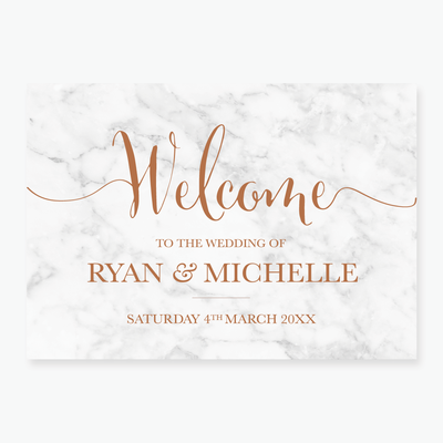 Marble Welcome Board
