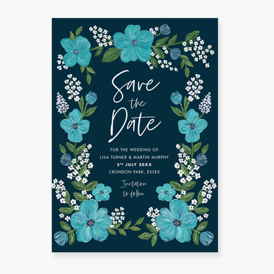 Midnight Garden Save the Date Card