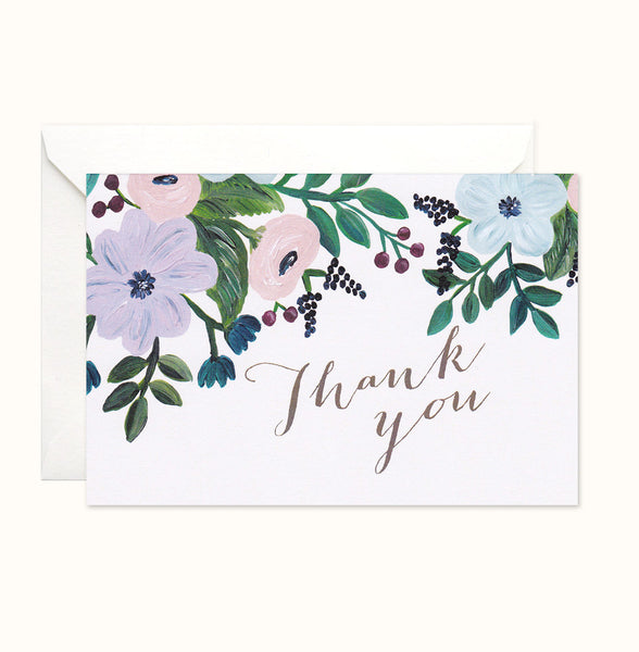Pretty Painterly Thank You card