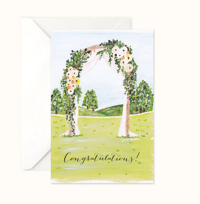 Pretty Arch Congratulations Card