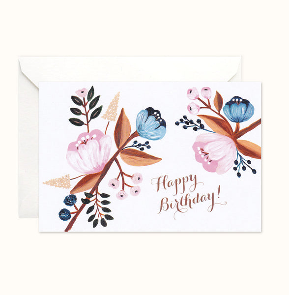Pretty Florals Birthday Card